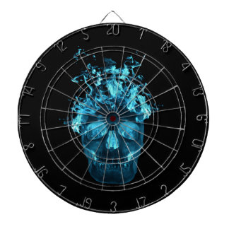 Blue Fire Skull Dart Board