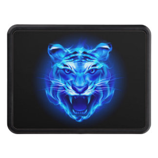 Blue Fire Tiger Face Hitch Cover