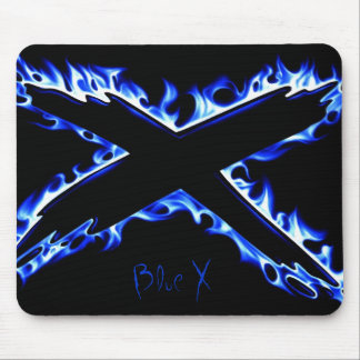 BLUE FIRE X, Blue X Mouse Pad