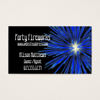 Blue Firework :: Party/Arts/Agent Business Business Card