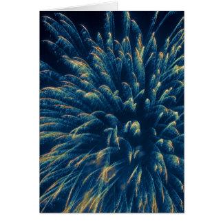 Blue Fireworks (3) Card