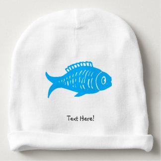 Blue Fish Baby Beanie