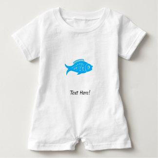Blue Fish Baby Romper
