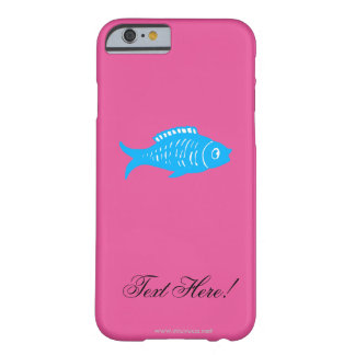 Blue Fish Barely There iPhone 6 Case