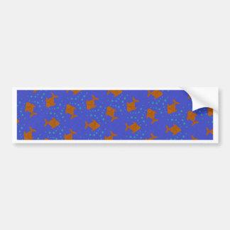 Blue fish bumper sticker