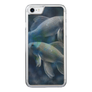 Blue Fish Carved iPhone 7 Case