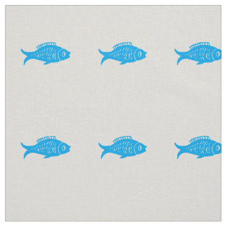 Blue Fish Fabric