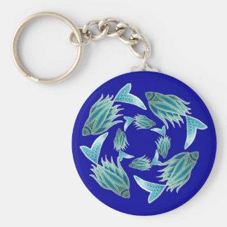 Blue Fish Keychain