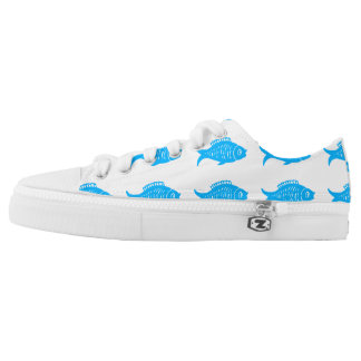 Blue Fish Low-Top Sneakers