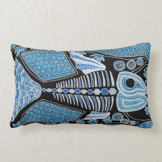 Blue Fish Lumbar Pillow