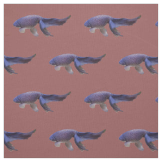 blue fish on pink fabric