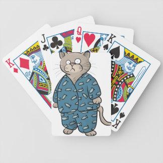 Blue Fish Pajamas Bicycle Playing Cards