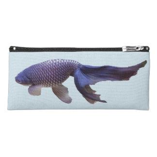 blue fish pencil case