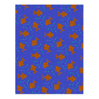 Blue fish postcard