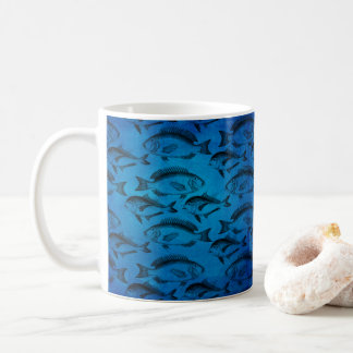 Blue Fish Putdoorsman Fisherman Coffee Mug