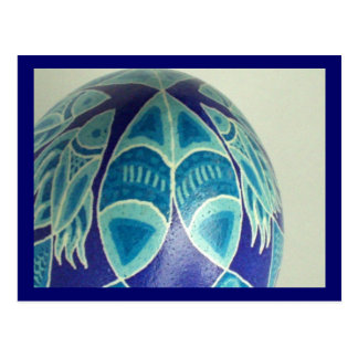 Blue Fish Pysanka Postcard