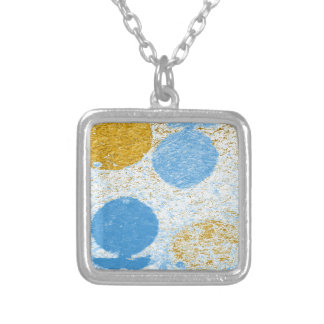 blue fish silver plated necklace