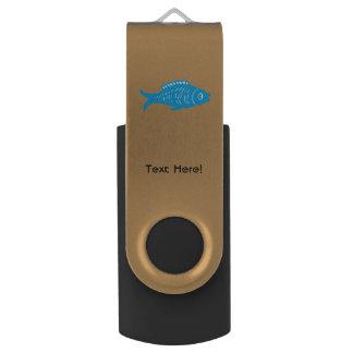 Blue Fish Swivel USB 2.0 Flash Drive
