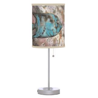 blue fish table lamp