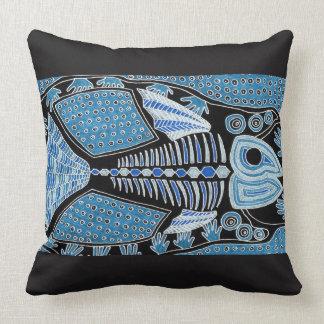 Blue Fish Throw Cushion