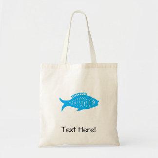 Blue Fish Tote Bag