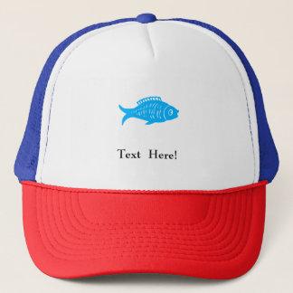 Blue Fish Trucker Hat