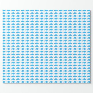 Blue Fish Wrapping Paper
