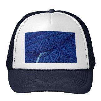 Blue fishing net hat