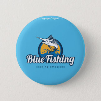 Blue Fishing Products 2 Inch Round Button