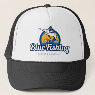 Blue Fishing Trucker Hat