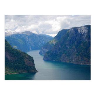 Blue Fjord Dream Postcard