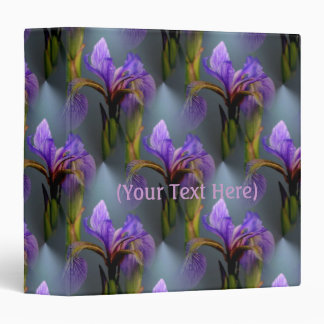 Blue Flag Iris Flower Nature Art Pattern Vinyl Binder