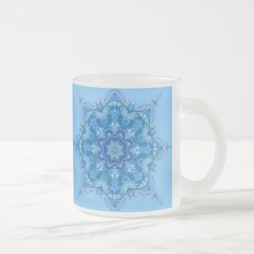 Blue Flake Frosted Glass Mug