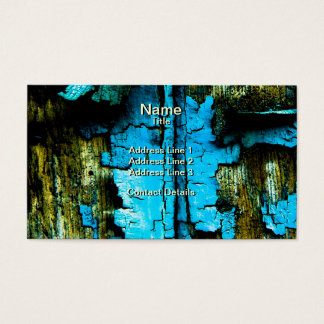 Blue Flaking Paint Business Card