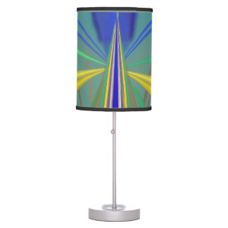Blue Flame 2 Abstract in Blues Table Lamp