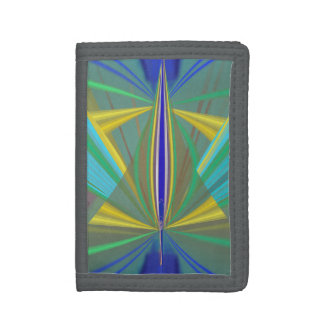 Blue Flame 2 Abstract in Blues Tri-fold Wallet