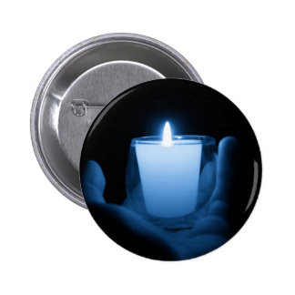 Blue Flame 2 Inch Round Button