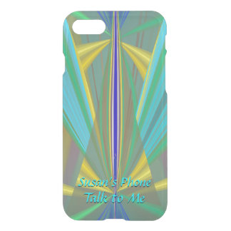 Blue Flame - Exciting Abstract with Your Text iPhone 8/7 Case