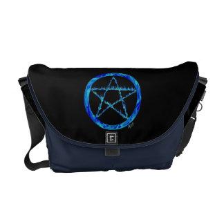 Blue Flame Pentacle Messenger Bag