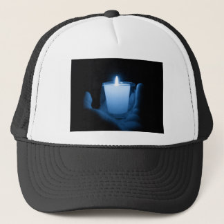 Blue Flame Trucker Hat