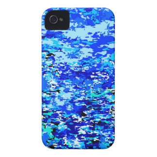 Blue Flames Background Case-Mate iPhone 4 Case