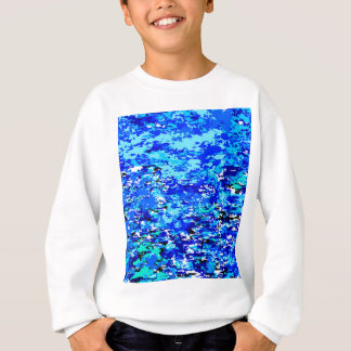 Blue Flames Background Sweatshirt