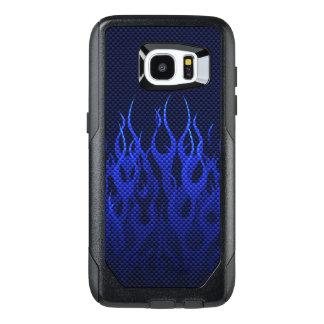 Blue Flames Decor on a OtterBox Samsung Galaxy S7 Edge Case