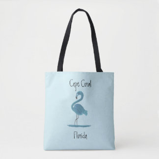 Blue Flamingo Painting - Cape Coral Fine Art Tote Bag