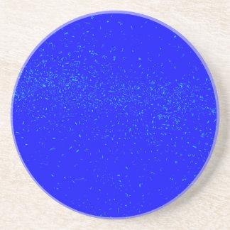 Blue Fleck Background Coaster