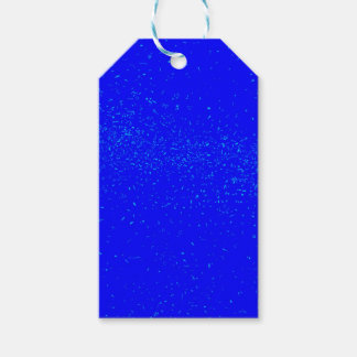 Blue Fleck Background Gift Tags