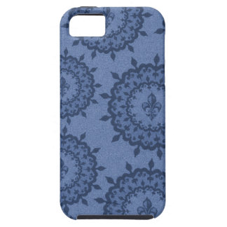 Blue Fleur De Lis iPhone 5 Cases
