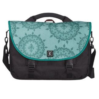 Blue Fleur De Lis turquoise Sac Pour Ordinateurs Portables