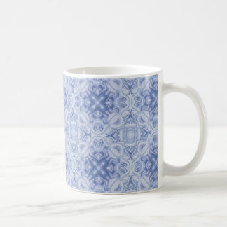Blue floral abstract pattern mugs