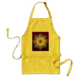 Blue Floral Abstract Vector Art Apron